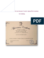formal course certificates