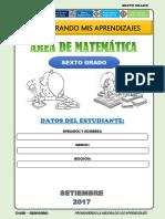 MATEMATICA  6° SETIEMBRE