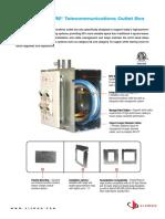 Siemon 5 Square Telecom Outlet Box Spec Sheet
