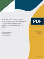 Datos Masivos Tecnicas Analiticas en Diseno e Implementacion de Politicas Publicas Latinoamerica y Caribe