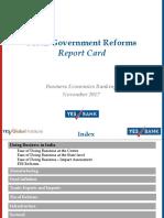 YES BANK Modi Govt Report Card Nov 2017