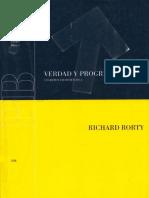 RORTY, RICHARD . VERDAD Y PROGRESO. ESCRITOS FILOSOFICOS 3