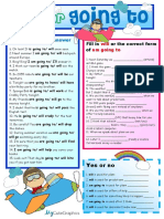 Will and Going to With Key Grammar Drills 53055