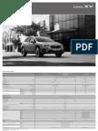 Subaru XV - Scheda Tecnica