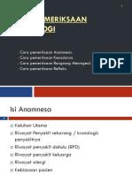 Pemeriksaan Rangsang Menineal Fisiologis Patologis
