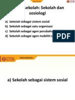 Topik 3 Fungsi Sekolah