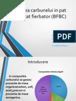 Arderea Carbunelui in Pat Fluidizat Fierbator BFBC 1