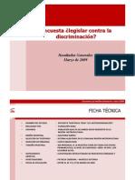 Fundacion Ideas - Encuesta - Legislar Contra La Discriminacion - 2009 - 14903259934a7b237503e30