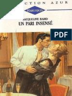 Un Pari Insensé - Jacqueline Baird-