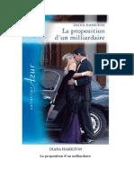 Proposition d'Un Milliardaire, La - Diana Hamilton
