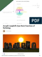 Joseph Campbell's Four Basic Functions of Mythology