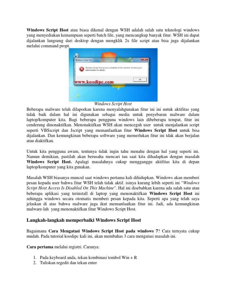 Windows Script Host docx