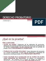 Derecho Probatorio Generalidades
