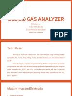 PPT Blood Gas Analyzer Kelompok 4