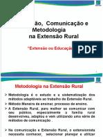 Educação Comunicação e Metodologia Na Extensão Rural