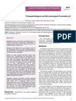 Retrospective Analysis of Histopathological and Microbiological Correlation Ofautopsy Series