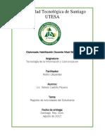 Tema III, Tecnologia de La Informacion y Comunicacion Nelson
