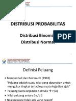 Distribusi Probabilitas Ganjil 2017