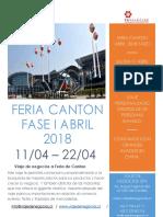 Feria Canton Fase 1 Abril 2018