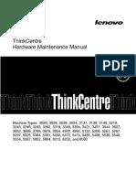 Lenovo ThinkCentre M90 5474-X01 Desktop PC Hardware Maintenance Manual