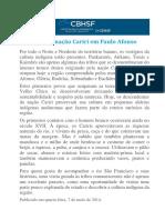 A Cultura Da Nação Cariri Em Paulo Afonso