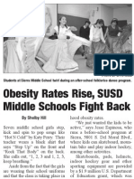 Middle Schools Fight Childhood Obesity