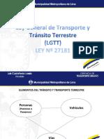 Ley General de Trasporte y Transito Terrestre