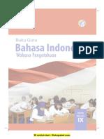 Buku Pegangan Guru Bahasa Indonesia SMP Kelas 9 Kurikulum 2013