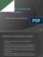 Proprietatile Chimice Ale Metalelor