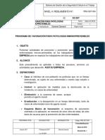 Prg-sst-004 Programa de Vacunación Para Patologías Inmunoprevenibles