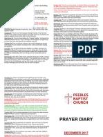Prayer Diary December 2017
