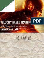 Velocidade Baseado Em Treinamento