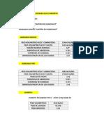Ficha Resumen de Agregados y Cemento
