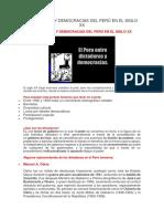 Dictaduras y Democracias Del Perú en El Siglo Xx