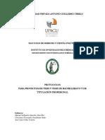 Protocolo de Investigación - Derecho