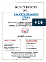 Project Report on Railway Reservation System using VB6.0 and Ms- Access.