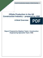 HSE Off Site Production June09