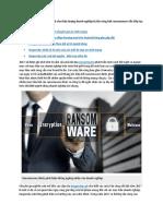 Nghiên Cứu Của Kaspersky Lab Cho Thấy Lượng Doanh Nghiệp Bị Tấn Công Bởi Ransomware Vẫn Tiếp Tục Gia Tăng Trong Năm 2017