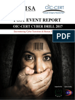 OIC-CERT Cyber Drill 2017, Post Event Report by PISA-CERT Pakistan