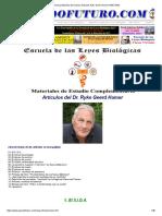Nueva Medicina Germanica Articulos Ryke Geerd Hamer NMG GNM