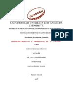 Actividad de Investigación Formativa - I Unidad