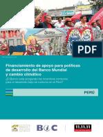 Financiamiento de Apoyo Para Políticas de Desarrollo Del Banco Mundial y Cambio Climático