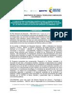 Terminos de Referencia Ecosistema Cientifico II Consulta