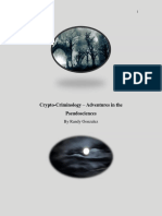 Crypto-Criminology Adventures in the Pseudosciences