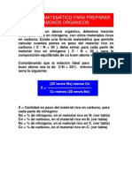 CALCULO MATEMÁTICO PARA PREPARAR ABONOS ORGÁNICOS