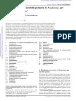 Tipos de Pseudomonas y Sus Metabolitos Secundarios