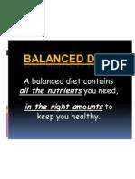 Balanced Diet (Nutrition)