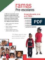 Spanish PreSchool Brochure