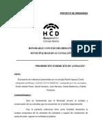 PROYECTO DE ORDENANZA prohibición exhibición de animales (1) (2)
