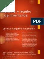 Control y Registro de Inventarios